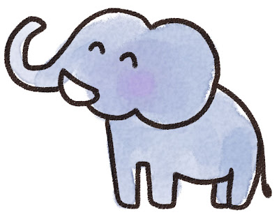 象のイラスト(動物)