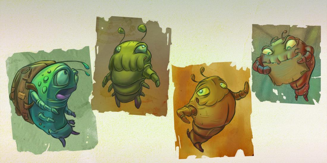 Hungry Chameleon sketchbook