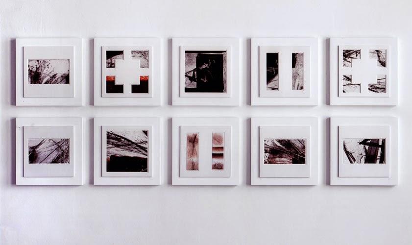 Kuno Lindenmann, O.T., 10-teiliges Bildobjekt / Mischtechnik, 90 x 220 cm, 2010
