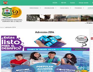 Ingresantes examen UNAS 2014-2 Examen Universidad Nacional Agraria de la Selva 24 de Agosto