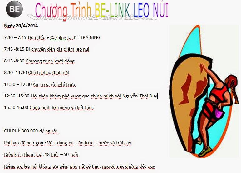 CHUONG TRINH LEO NUI THE THAO BELINK