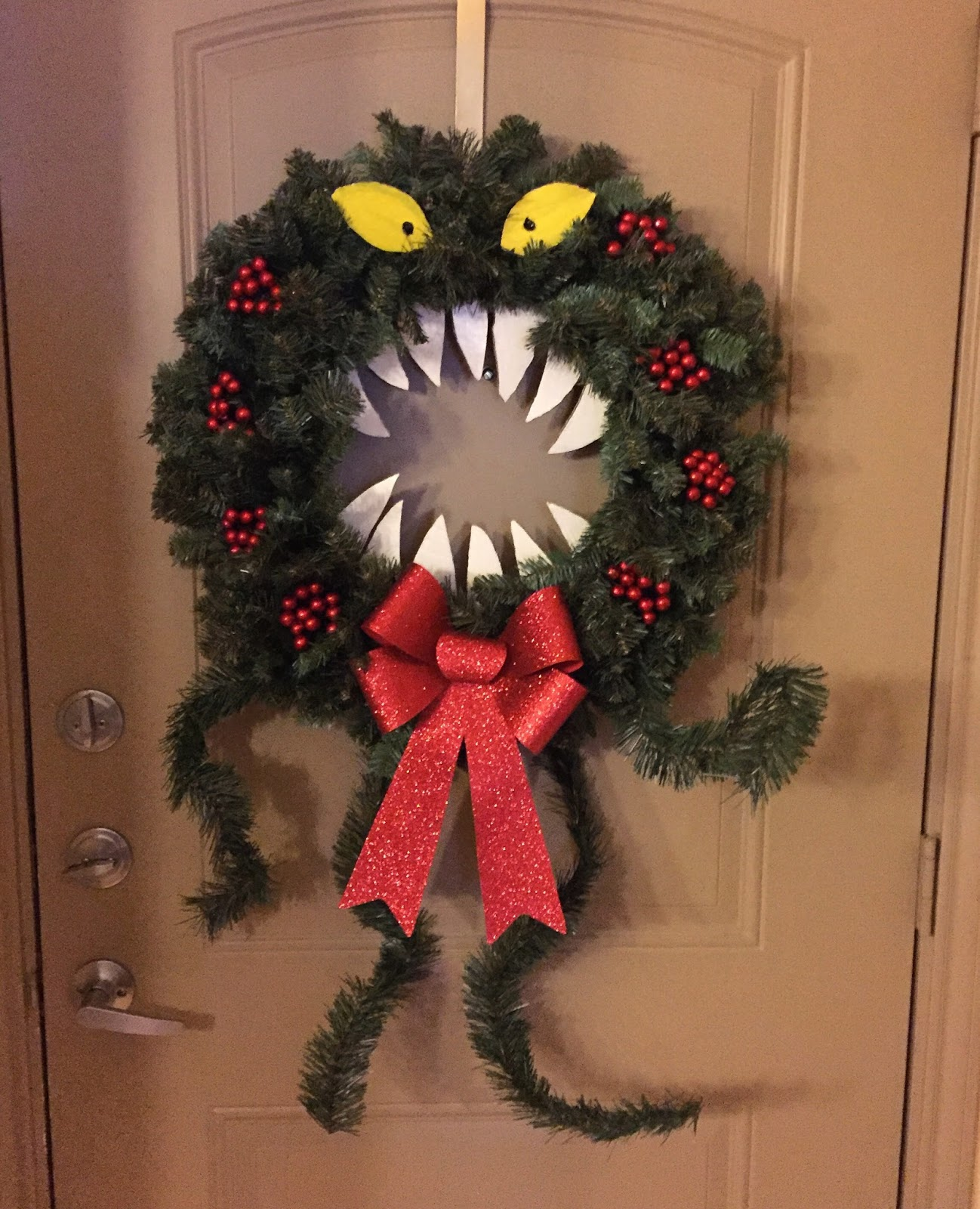 diy nightmare before christmas man eating wreath