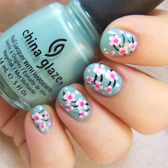 cherry blossom nail art - Did My Nails: Even More Cherry Blossom Nail Art