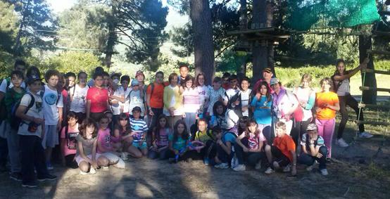 Escolares de Tenerife y Ciudad Real conviven en el Valle del Jerte junto a alumnos de El Torno
