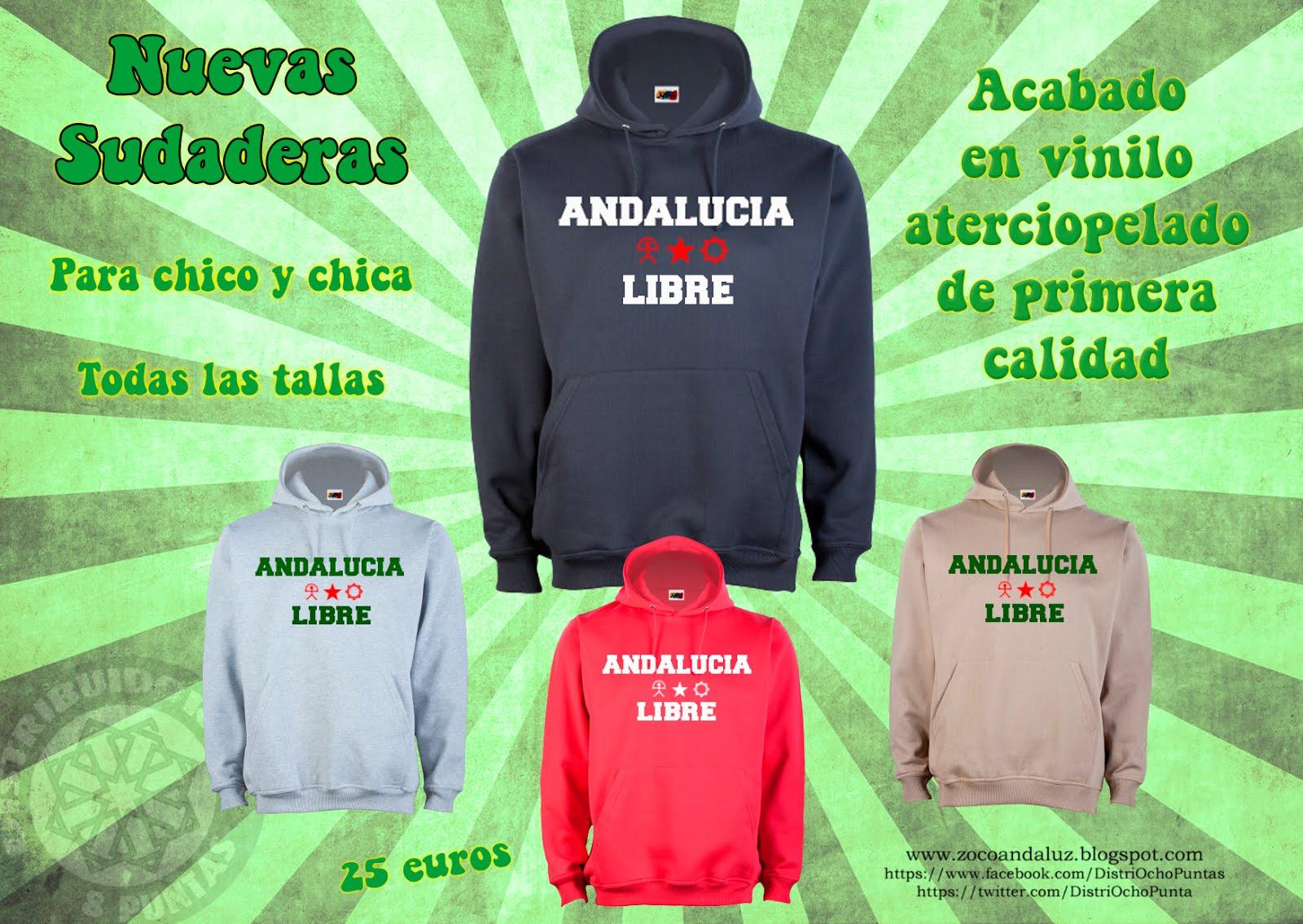 """Sudadera vinilo aterciopelado """"Andalucía Libre"""""""