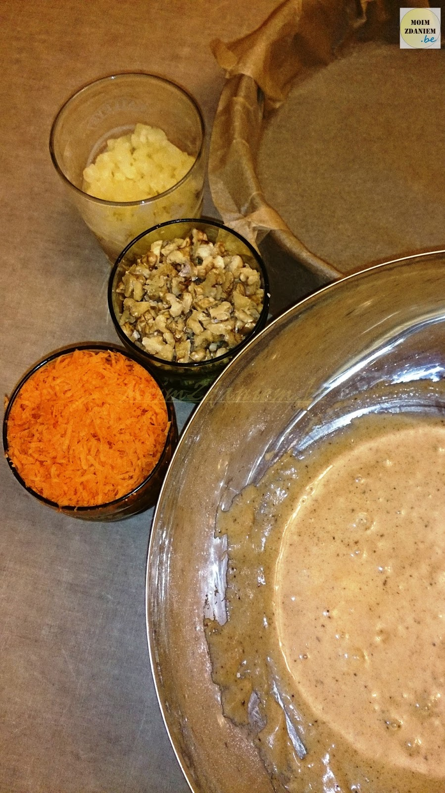 ciasto marchewkowe przygotowanie
