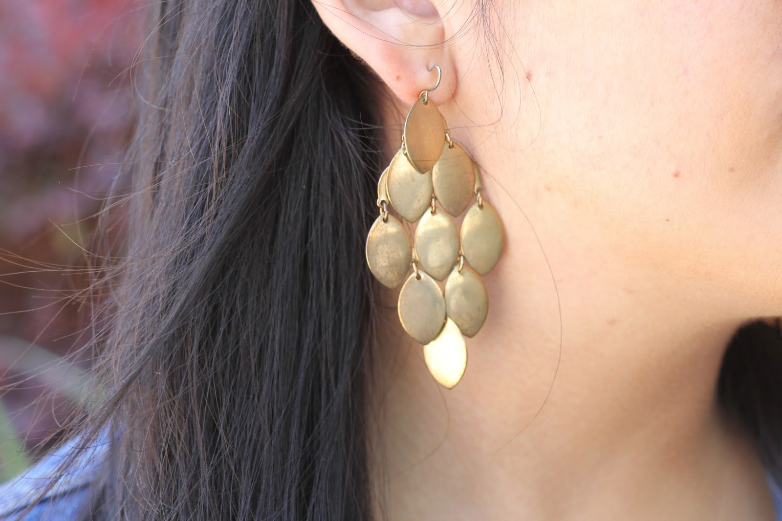 Gold Chandelier Earring