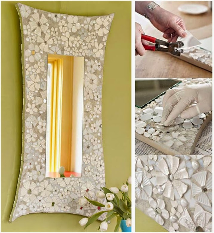 DIY Mosaic Flower Frame