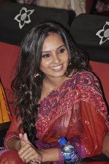 Actress Aarushi Picture Gallery in Saree at Velmurugan Borewell Movie Audio Launch 0008.jpg