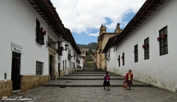 Cajamarca, raggiungendo il Complejo de Belen