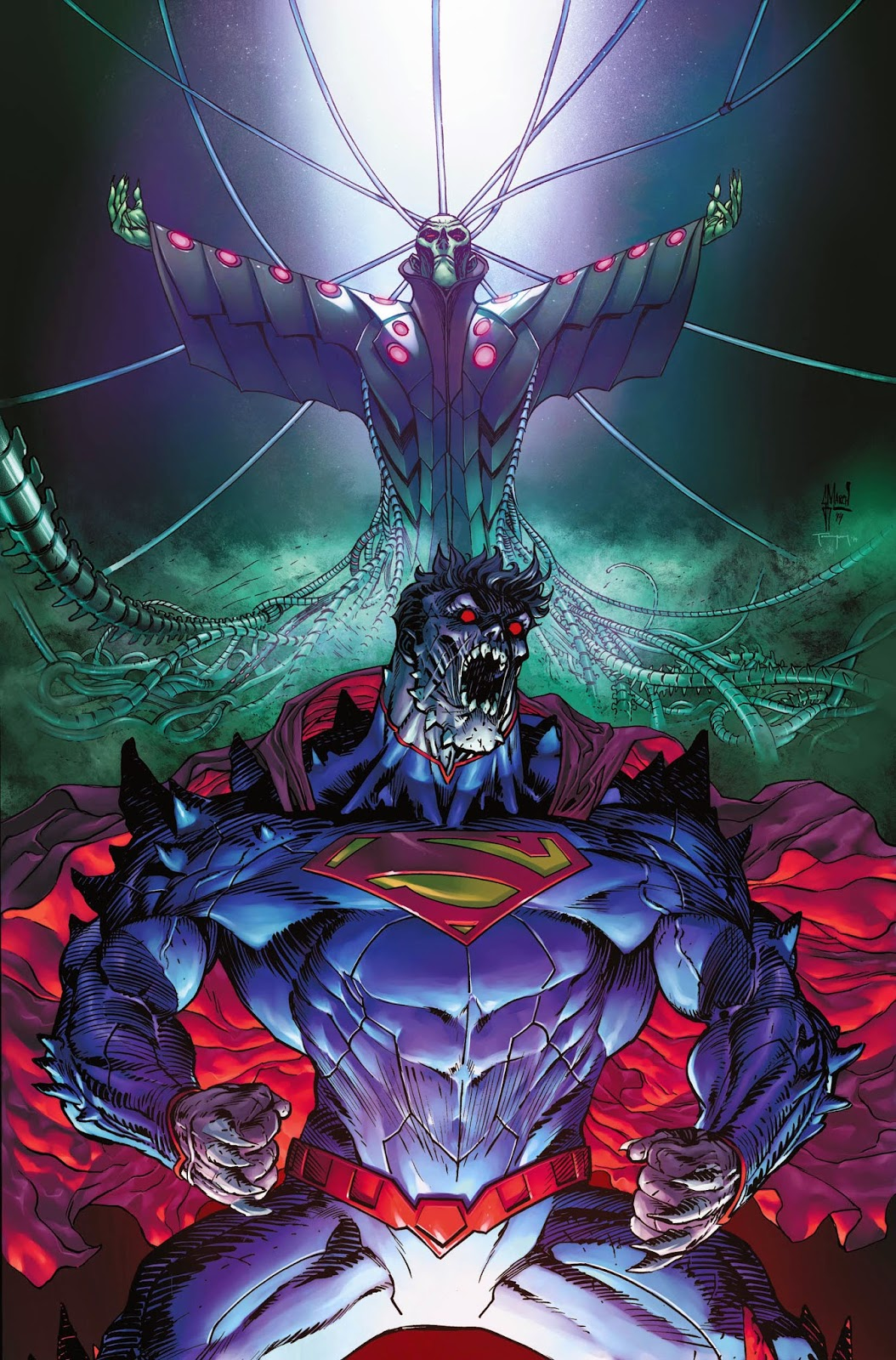 Cover process: SUPERMAN DOOMED by Guillem March