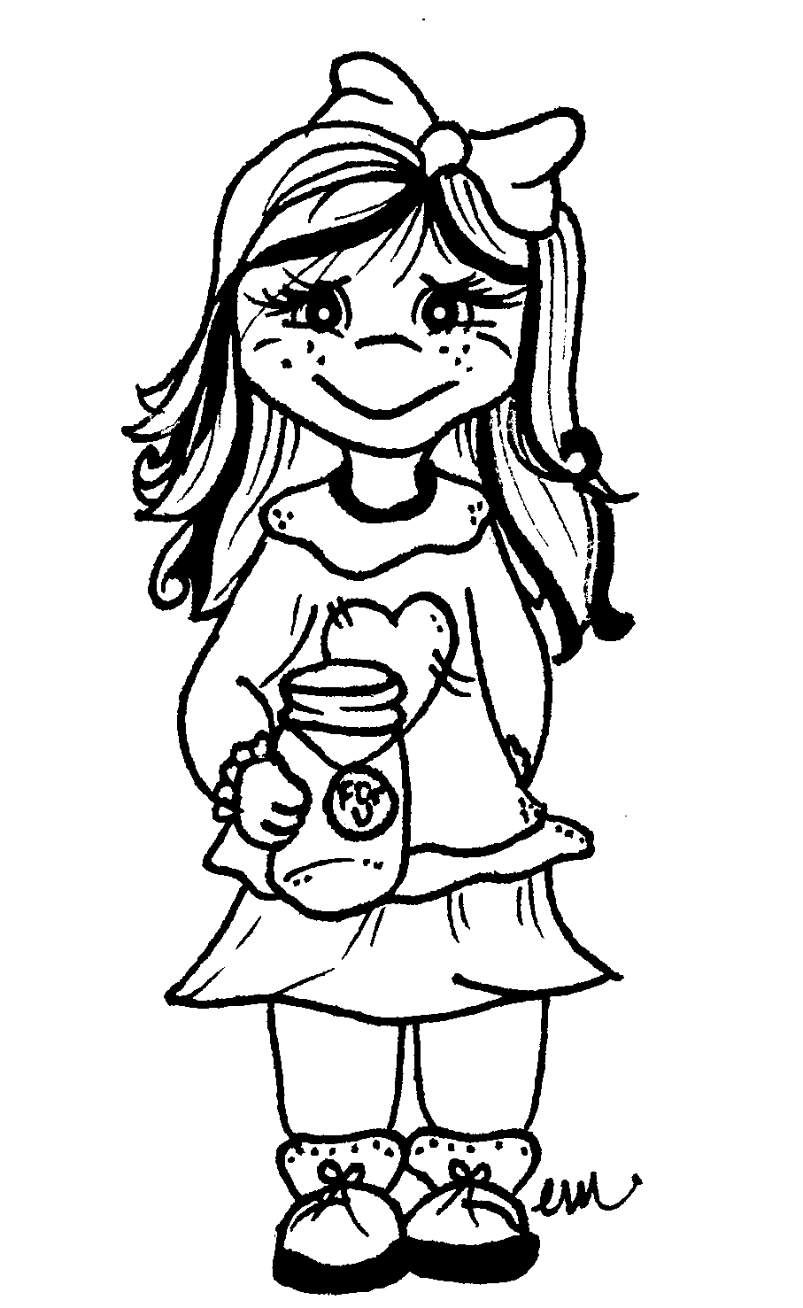 Little Girl Digi Stamps Sweetly Scrapped S Free
