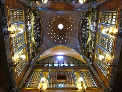 Central Hall of Palau Güell in Barcelona