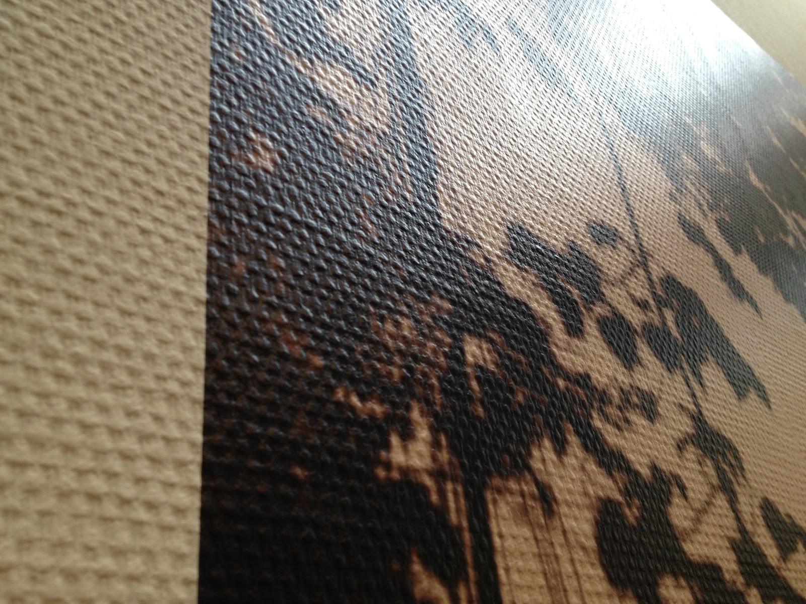 wallprint op glasvezelbehang het kan