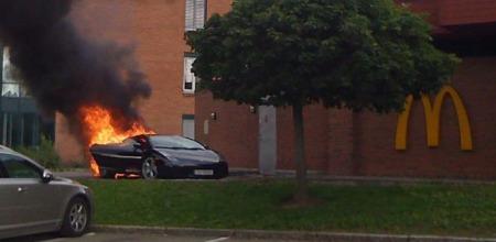 Dcgoldca Lamborghini Gallardo On Fire While In Line At Mcdonalds