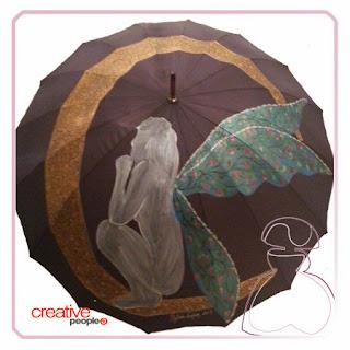 Casi acabado, esta es la evolución de paraguas pintado a mano por Sylvia Lopez Morant