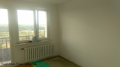 Białe ściany w mieszkaniu