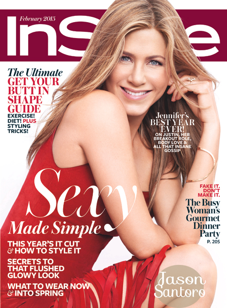 Jennifer Aniston covers InStyle magazine February 2015