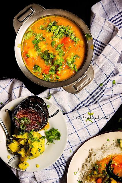 sobji die bhaja muger dal bengali recipe