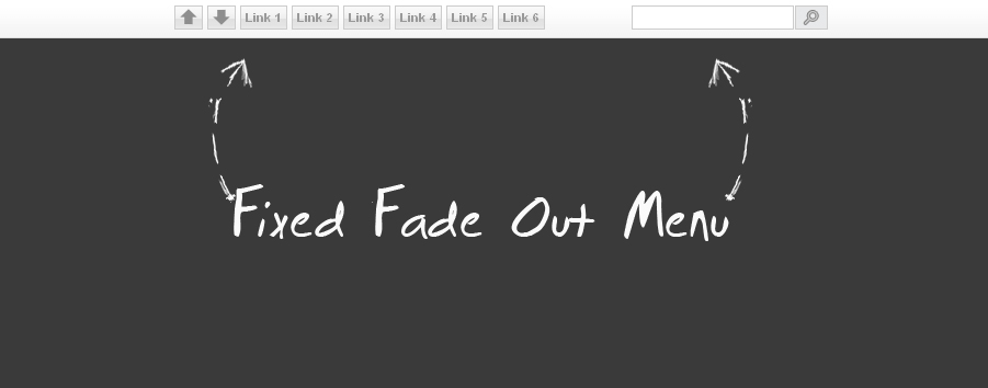 Cool Fixed Fadeout Horizontal |Menu with Css/Jquery for Blogger