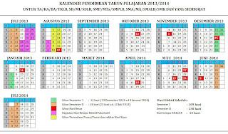 Kalender Pendidikan Tahun Pelajaran 2013-2014