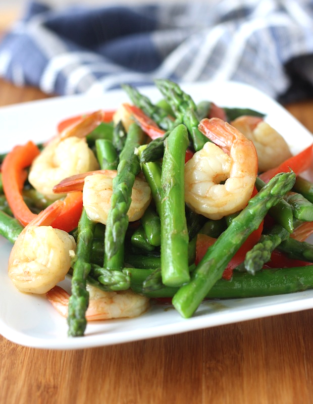 Thai style asparagus shrimp stir fry season with spice thai style asparagus shrimp stir fry ccuart Gallery