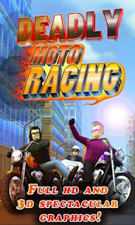 Screenshots of the Deadly Moto Racing for Android tablet, phone.