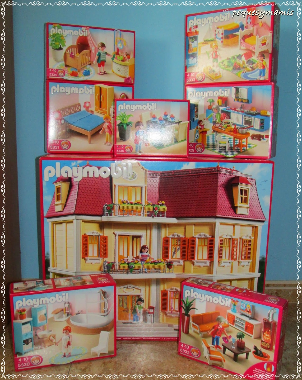 Pequesymamis mi gran casa de mu ecas de playmobil for La casa de playmobil