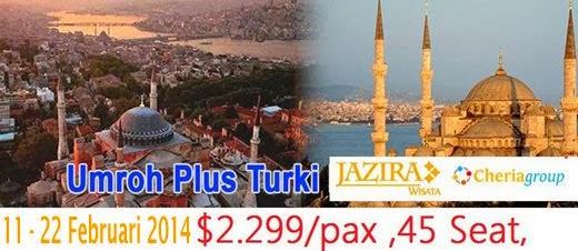 PAKET UMROH PLUS TURKI 2014 JAZIRA WISATA