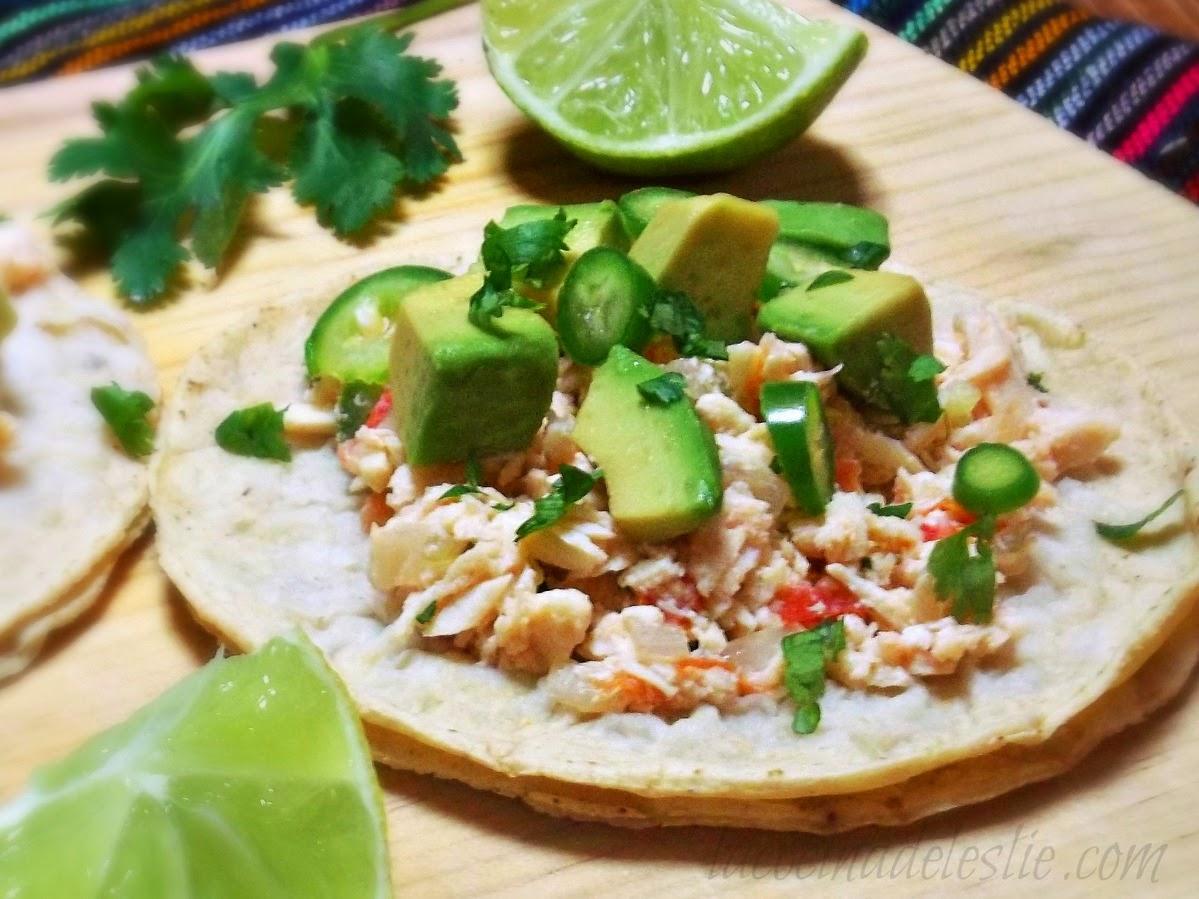 Tacos de Pollo Deshebrado - lacocinadeleslie.com