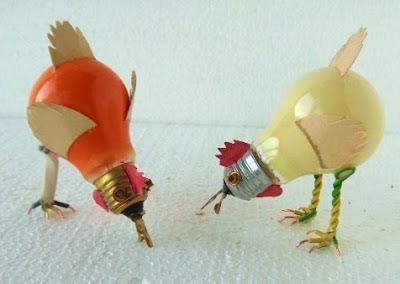 Ideas de reciclaje con bombillas para niños