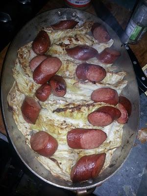 roasted cabbage and turkey kielbasa recipe