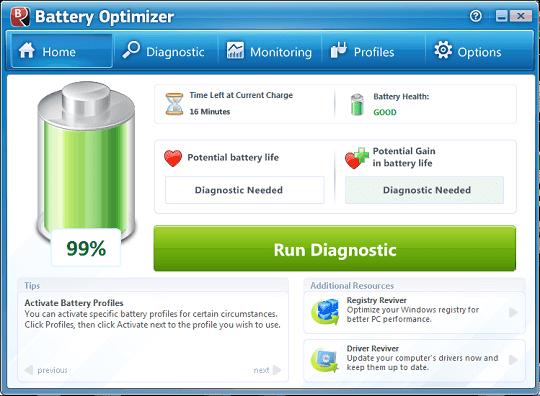 برنامج Battery Optimizer للحافظ على بطارية جهازك
