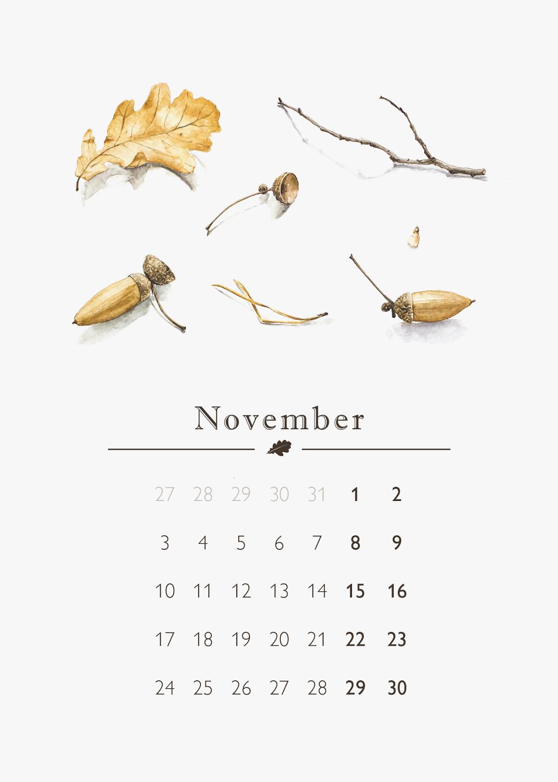 ноябрь, календарь