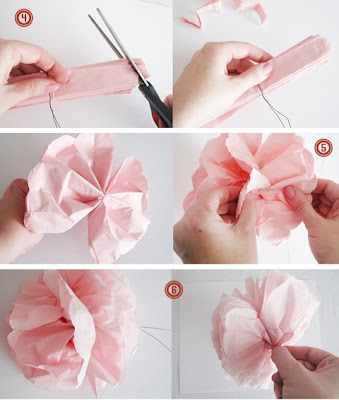 Tissue paper flower tutorial