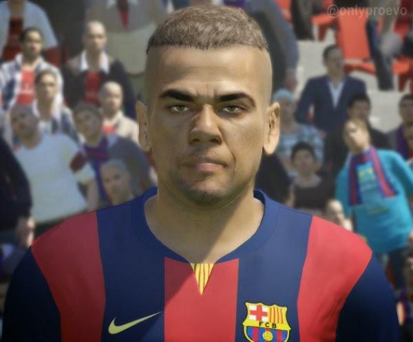 Faces jogadores brasileiros: Face Daniel Alves PES 2015