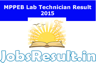 MPPEB Lab Technician Result 2015