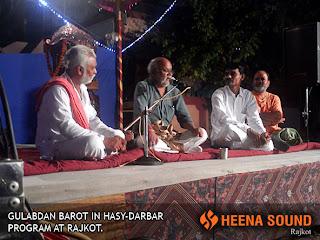 Gulabdan Barot in Hasy-Darbar at Rajkot