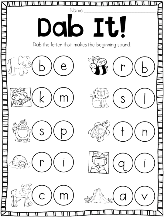 Free Printables Beginning Sounds Worksheets Kindergarten : Beginning sound bonanza teaching with haley o connor