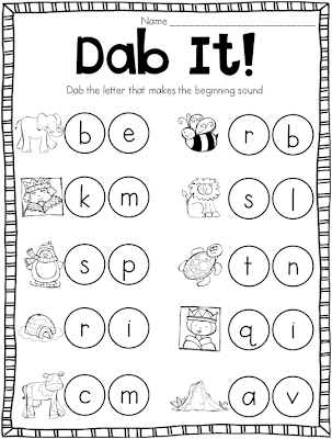 beginning sounds worksheets for kindergarten ~ Brandonbrice.us