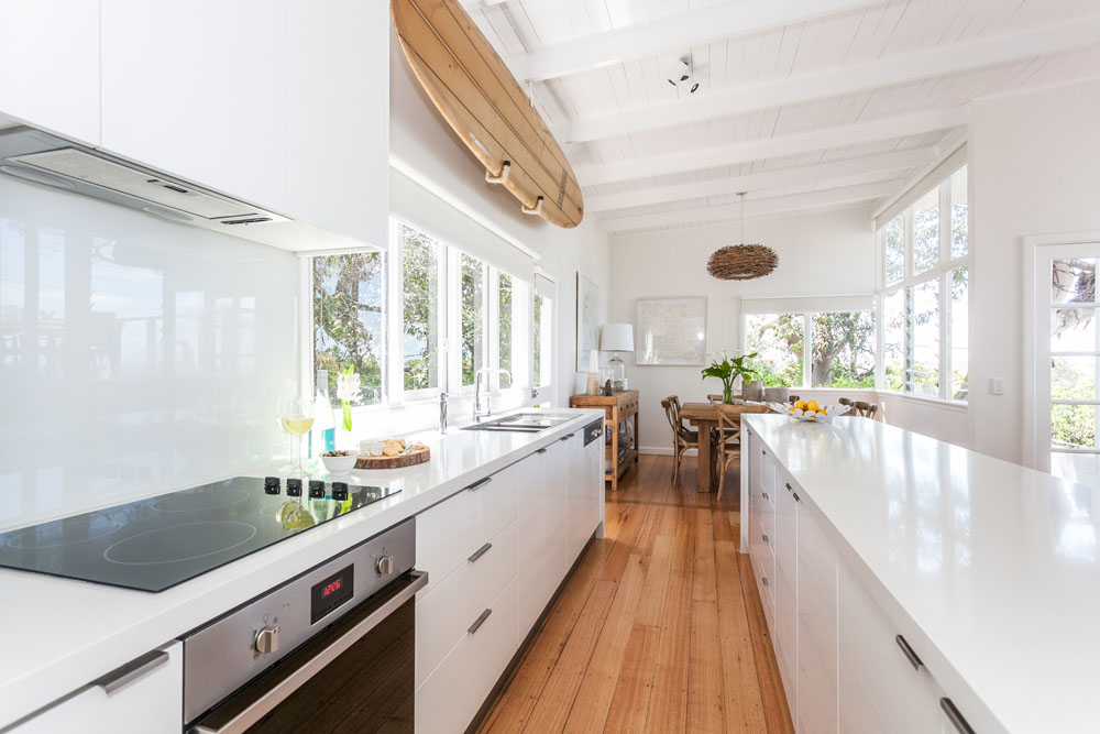 Coastal style my beach house the kitchen for Galley kitchen designs australia