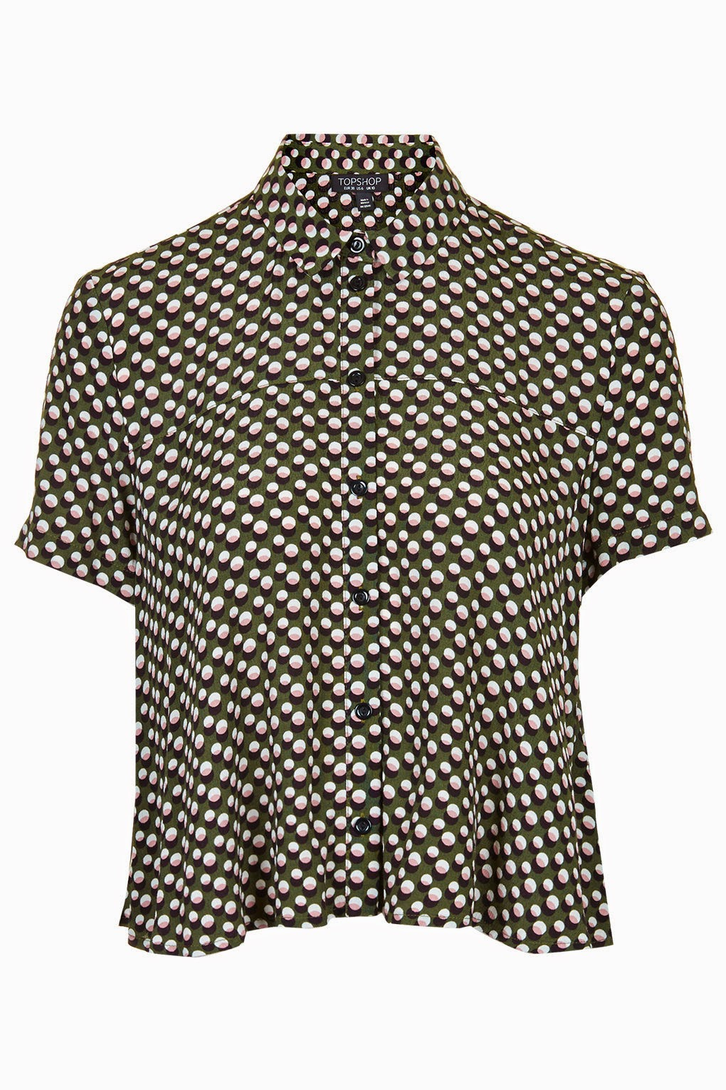 khaki spotty blouse
