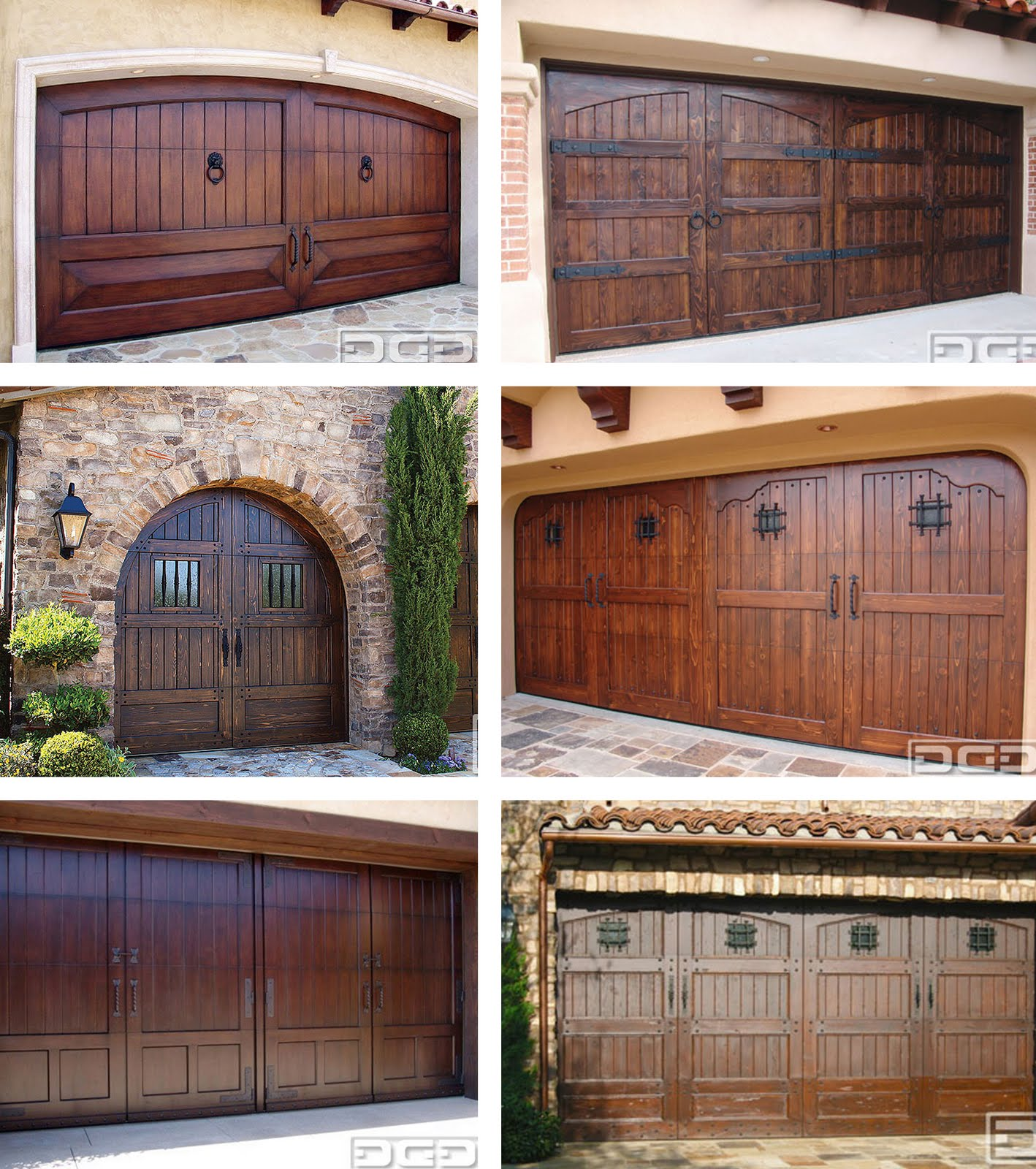 Faux wood painted garage doors - Real Wood Garage Doors By Dynamic Garage Door
