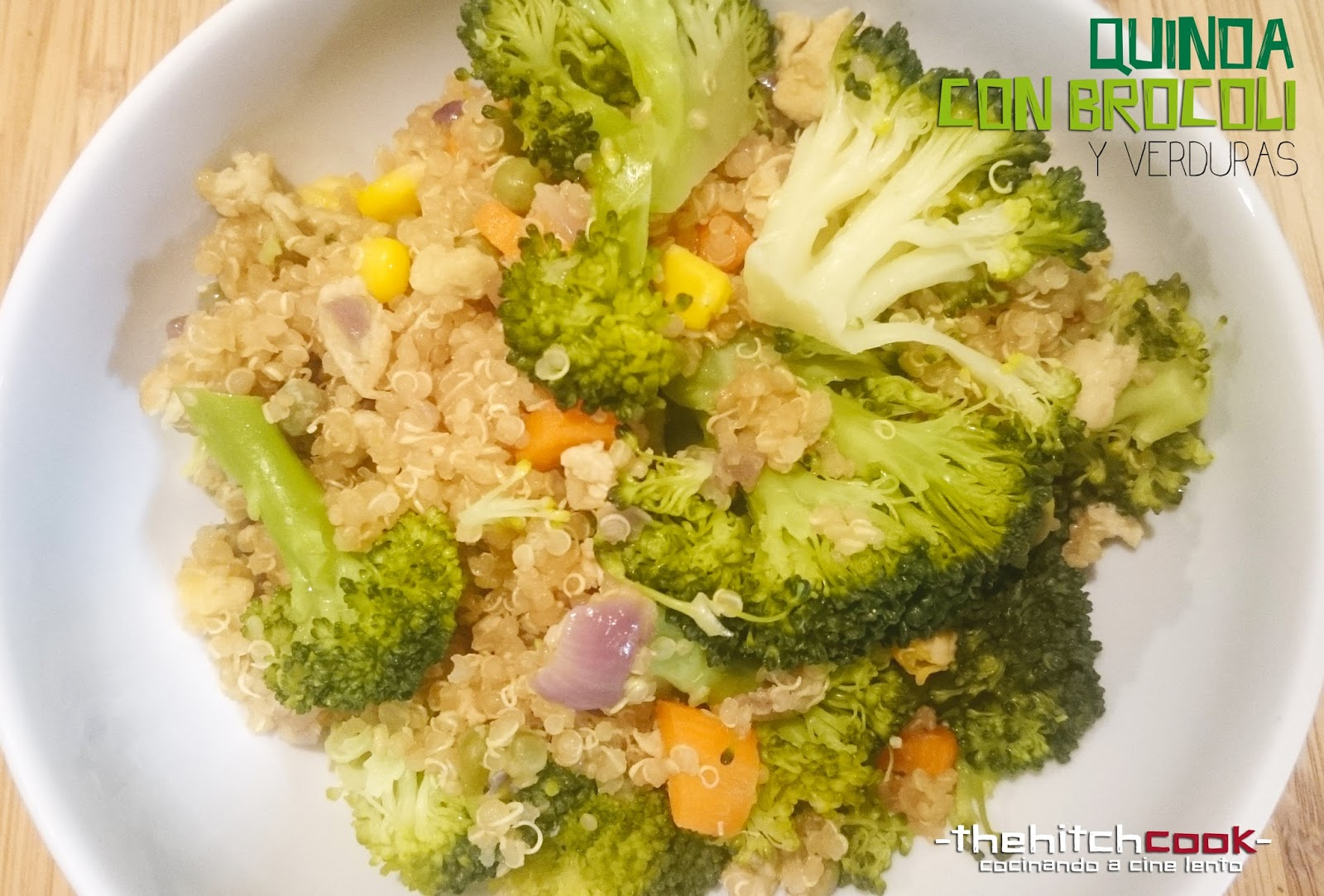 The hitchcook quinoa con brocoli y verduras cenas for Cena de verduras