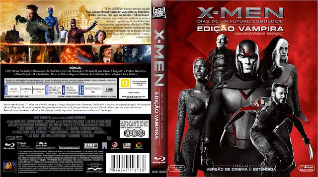 Capa Bluray X Men Dias De Um Futuro Esquecido Edição Vampírica