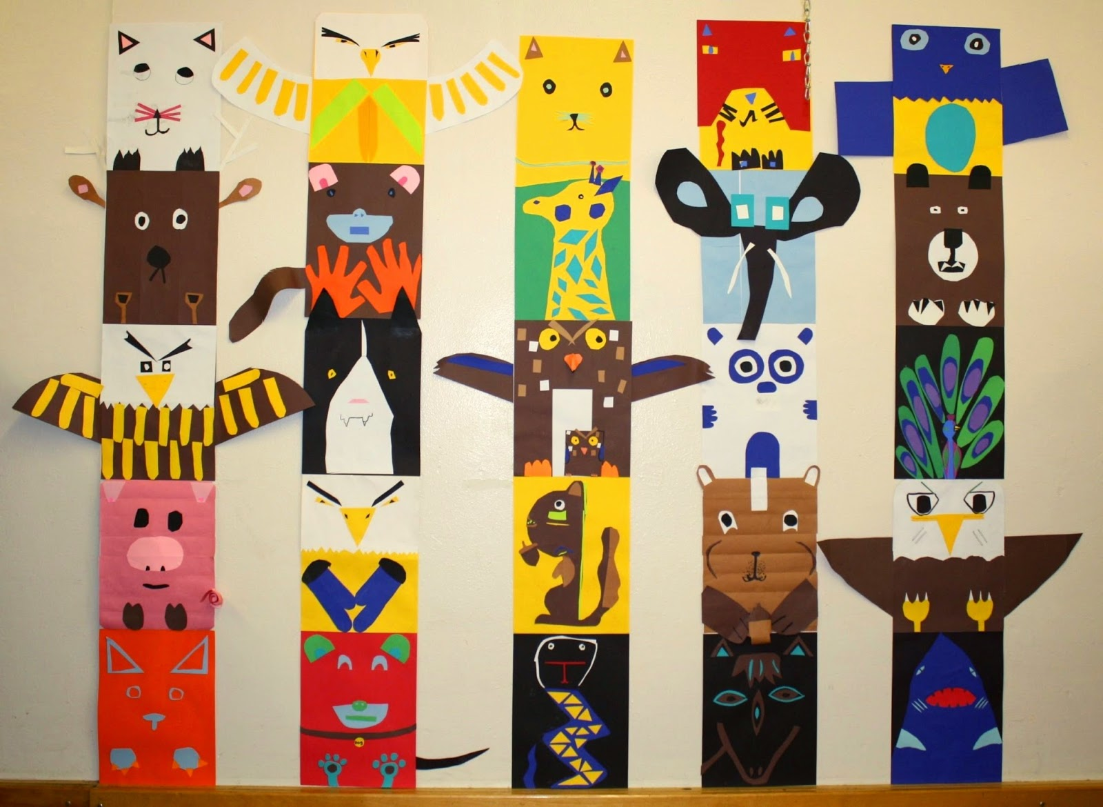 Totem Pole Animals For Kids