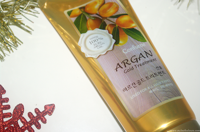 Review of Confume Argan Gold Hair Treatment from Wishtrend