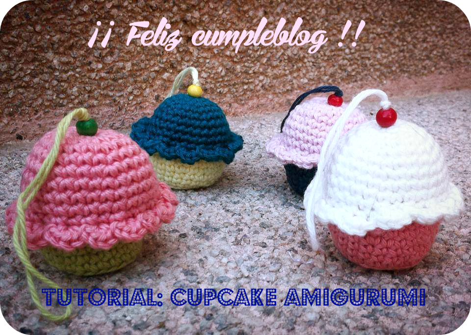 tutorial cupcake amigurumi