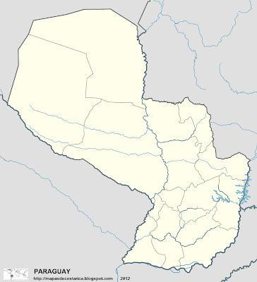 Mapa Político de PARAGUAY (mapa grande)