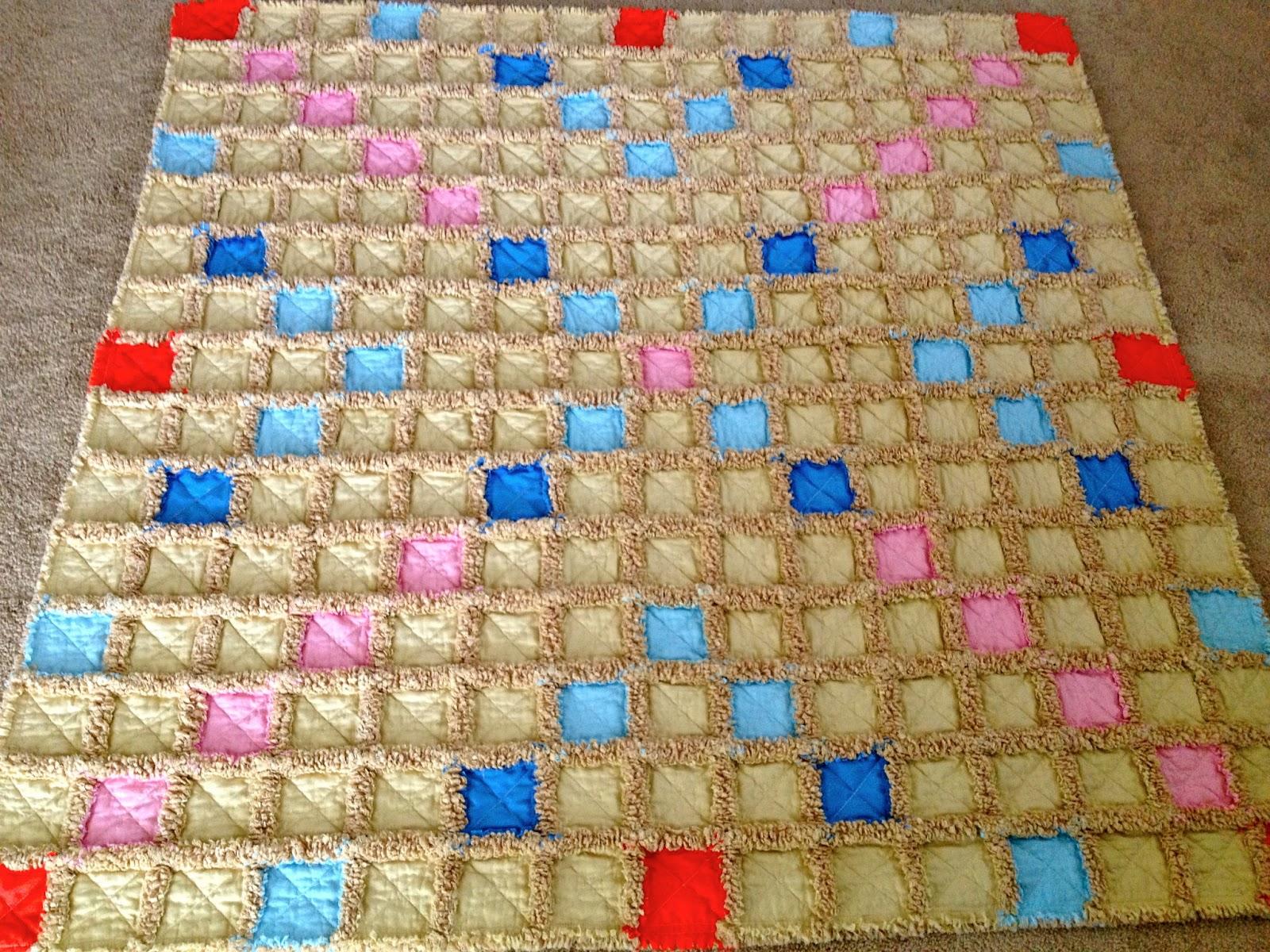 Zeedlebeez Scrabble Rag Quilt